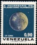 Sellos de America - Venezuela -  1973  X Aniv. Planetario Humboldt: La Luna