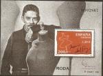 Sellos de Europa - España -  ESPAÑA 2000 3759 Sello HB ** Exposicion Mundial Filatelia ESPAÑA'2000 Personajes Moda Jesús del Pozo