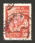 Stamps : America : Bolivia :  anivº de la reforma agraria, derecho a la tierra