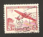 Stamps : America : Chile :  avión