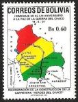 Sellos del Mundo : America : Bolivia : INAURURACION DELA CONSTRUCCION DE LA CARRETERA
