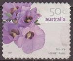 Stamps : Oceania : Australia :  AUSTRALIA 2007 Sello Flora Rosa del Desierto Sturt