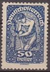 Sellos de Europa - Austria -  AUSTRIA 1919 Scott 215 Sello ** Alegoría de la Nueva Republica 50h Osterreich Autriche