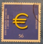 Stamps Germany -  entrada del euro