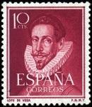 Stamps Spain -  Literatos
