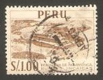 Sellos del Mundo : America : Perú : fortaleza de paramongas, ruinas incas