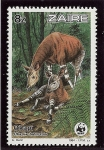 Stamps Democratic Republic of the Congo -  Reserva de la fauna de los okapis