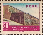 Sellos de America - Perú -  Pro Chan-Chan - Vista parcial de la terraza del templo