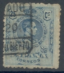 Stamps Spain -  ESPAÑA 1910_274.01 Alfonso XIII. Tipo medallón