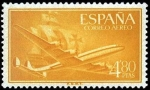 Stamps Spain -  Superconstellation y nao Santa María