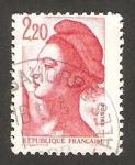 Stamps : Europe : France :  libertad de delacroix