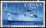 Sellos de Europa - España -  Exposición flotante en el buque