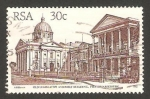 Sellos del Mundo : Africa : Sudáfrica : Edificio antiguo de la Asamblea Nacional en Pietermaritburg
