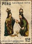 Sellos de America - Perú -  Navidad 1972. Antiguas tallas en madera policromada.