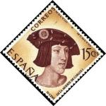 Stamps Spain -  IV Centenario de la muerte de Carlos Ide España y V de Alemania