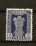 Stamps India -  Columna de Asoka / Valor en Naye Paisa.