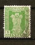 Sellos de Asia - India -  Columna d Asoka / Valor en Naye Paisa.