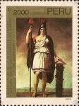Stamps Peru -  Bicentenario de la Revolución Francesa y Declaración de los Derechos del Hombre y del Ciudadano.