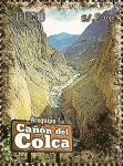 Stamps of the world : Peru :  Cañones del Perú: Cañón del Colca (Arequipa).