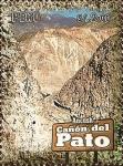 Stamps of the world : Peru :  Cañones del Perú: Cañón del Pato (Ancash).