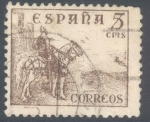 Stamps Spain -  ESPAÑA 1949-53_1044 El Cid y General Franco.