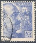 Stamps Spain -  ESPAÑA 1949-53_1052 El Cid y General Franco.