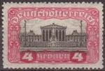 Sellos de Europa - Austria -  Austria 1919 Scott 222 Sello * Edificio del Parlamento 4k Osterreich Autriche