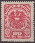 Sellos de Europa - Austria -  AUSTRIA 1920 Scott 238 Sello ** Escudo de Armas 80h Osterreich Autriche