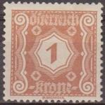 Sellos de Europa - Austria -  AUSTRIA 1922 Scott J103 Sello * Cifras Numeros 1k Osterreich Autriche