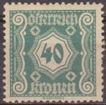 Stamps Austria -  AUSTRIA 1922 Scott J112 Sello * Cifras Numeros 40k Osterreich Autriche