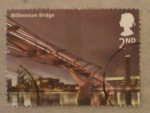 Stamps United Kingdom -  millennium bridge
