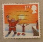 Stamps United Kingdom -  papa noel