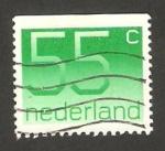 Stamps Netherlands -  centº del sello holandés