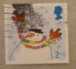 Stamps United Kingdom -  muñeco nieve