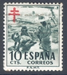 Stamps Spain -  ESPAÑA 1951_1104 Pro Tuberculosos.