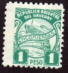 Sellos de America - Uruguay -  Ferrocarril y barco