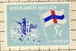 Stamps Netherlands -  Bandera y edificio   ST STATIUS
