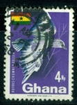 Stamps : Africa : Ghana :  Rufous-crowned roller