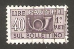 Stamps : Europe : Italy :  sello para paquete postal