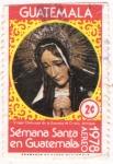 Sellos del Mundo : America : Guatemala :  Virgen Dolores de la Escuela de Cristo Antigua