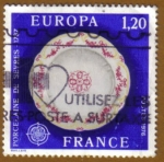 Stamps of the world : France :  Porcelana de SEVRES
