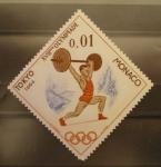 Sellos de Europa - Mónaco -  XVIII olimpiadas tokio