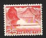 Sellos de Europa - Suiza -  lago