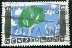 Sellos de Oceania - Nueva Zelanda -  Año internacional de la Paz. Dibujo de un niño