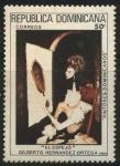 Stamps America - Dominican Republic -  Scott 837 - El Espejo - Gilberto Hernandez Ortega