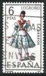 Stamps : Europe : Spain :  Trajes .Logroño.