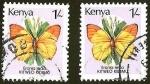 Sellos del Mundo : Africa : Kenya : MARIPOSAS - KITWEO KID MU