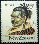 Stamps New Zealand -  Habitantes Regionales.Te Hau