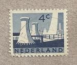 Sellos de Europa - Holanda -  Centrales eléctricas