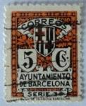sellos de Europa - España -  Correos Ayuntamiento de Barcelona Serie 3ª